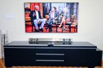 Enjoy the 3D 55-Inch LED TV with surround sound and internet bowsing capabilities